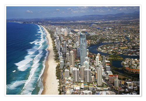 Plakat Surfer's Paradise from the air