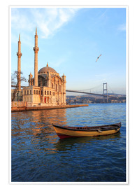 Plakat  Rowboat and Ortakoy Mosque - Ali Kabas