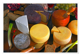 Plakat Cheese plate in Tuscany