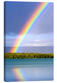 Obraz na płótnie  Rainbow on Lake Naknek - Jerry Ginsberg