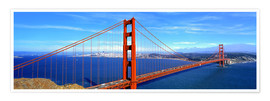 Plakat Golden Gate bridge from above