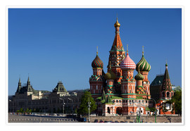Plakat  St. Basil's Cathedral in Moscow - Walter Bibikow