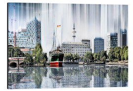 Obraz na aluminium  Hamburg Germany World Skyline - Städtecollagen