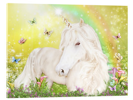 Obraz na szkle akrylowym  Unicorn of Happiness - Dolphins DreamDesign
