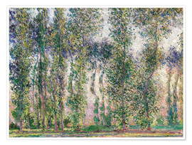 Plakat Poplars at Giverny