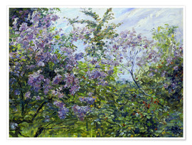 Plakat Blossoming lilac. About 1921