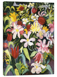 Obraz na płótnie  Carpet of flowers - August Macke