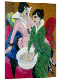 Obraz na PCV  Two women with washbasin, The sisters - Ernst Ludwig Kirchner