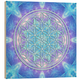 Obraz na drewnie  Flower of Life - Dolphin Awareness - Dolphins DreamDesign