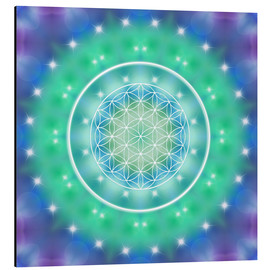 Obraz na aluminium  Flower of Life - Relaxation - Dolphins DreamDesign
