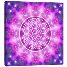 Obraz na płótnie  Flower of Life - Love Essence - Dolphins DreamDesign