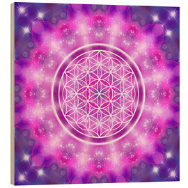 Obraz na drewnie  Flower of Life - Love Essence - Dolphins DreamDesign