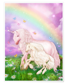 Plakat Unicorn rainbow magic