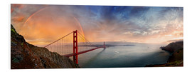 Obraz na PCV  San Francisco Golden Gate with rainbow - Michael Rucker