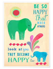 Plakat Happy elephants