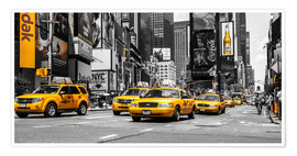 Plakat Yellow cabs in Times Square