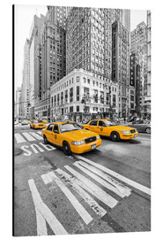 Obraz na aluminium  Yellow Taxi / Cab, New York - Marcus Klepper