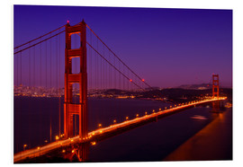 Obraz na PCV  Golden Gate Bridge by Night - Melanie Viola