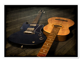 Plakat Guitar pair