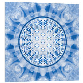 Obraz na PCV  flower of life blue - symbol harmony and balance - blue - Lava Lova