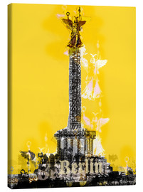 Obraz na płótnie  Berlin Victory Column (on Yellow) - JASMIN!