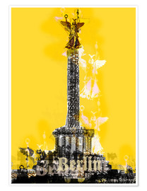 Plakat Berlin Victory Column (on Yellow)
