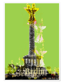 Plakat Berlin Victory Column (on Green)