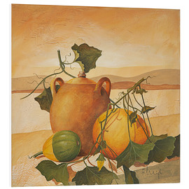Obraz na PCV  Pumpkins and terracotta - Franz Heigl