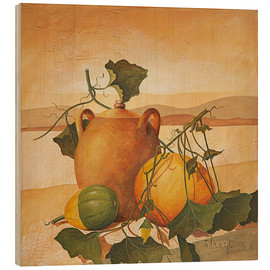 Obraz na drewnie  Pumpkins and terracotta - Franz Heigl
