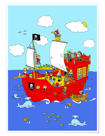 Plakat pirate ship scene