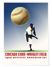Plakat chicago cubs 1950