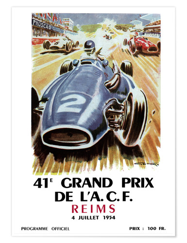 Plakat grand prix reims