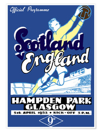 Plakat scotland vs england 1952