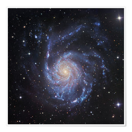 Plakat M101, The Pinwheel Galaxy in Ursa Major