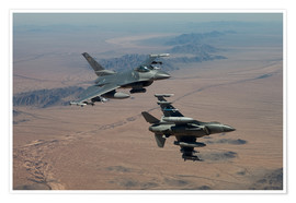 Plakat Two F16 on a training mission
