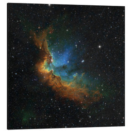 Obraz na aluminium  NGC 7380 in the Hubble palette colors - Rolf Geissinger
