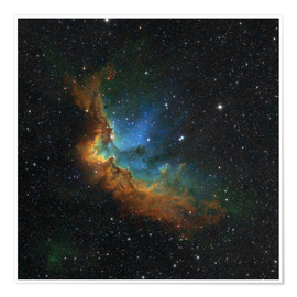 Plakat NGC 7380 in the Hubble palette colors