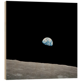 Obraz na drewnie  Earth from the Moon