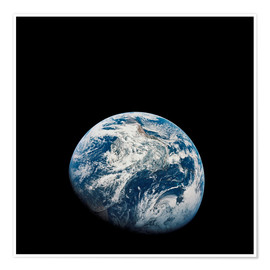 Plakat Earth from the viewpoint of Apollo 8