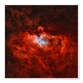 Plakat The Eagle Nebula in the constellation Serpens