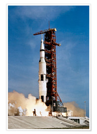 Plakat  Apollo 11 taking off from Kennedy Space Center