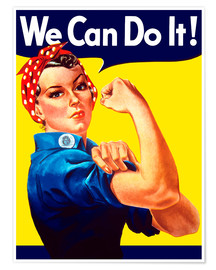 Plakat  Rosie The Riveter vintage war poster from World War Two - John Parrot