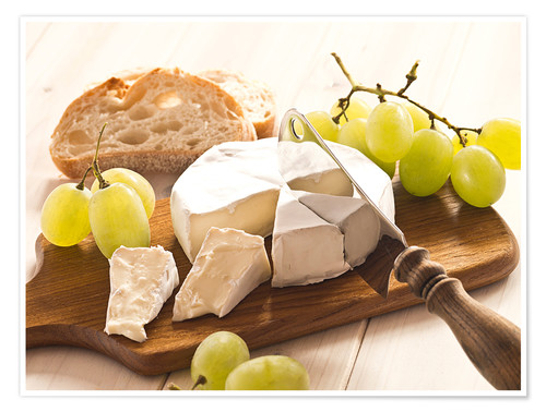 Plakat Cheese and grapes
