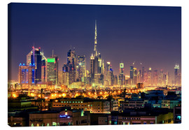 Obraz na płótnie  Dubai skyline at night - Stefan Becker
