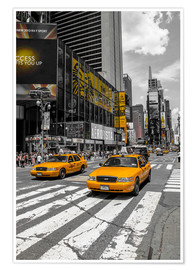 Plakat Yellow cabs on Time Square 2