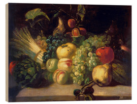 Obraz na drewnie  Still life with fruits and vegetables - Theodore Gericault