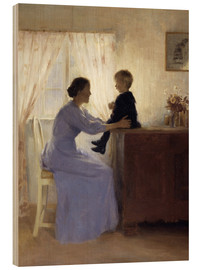 Obraz na drewnie  Mother and Child - Peter Vilhelm Ilsted
