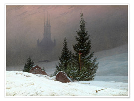 Plakat Winter Landscape with a Church