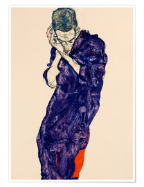 Plakat  Youth with violet frock - Egon Schiele