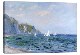 Obraz na płótnie  Rocks and sailing boats in Pourville - Claude Monet